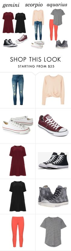 """Horscope #3"" by gabriellebear ❤ liked on Polyvore featuring MICHAEL Michael Kors, MANGO, Converse, Manon Baptiste, NYDJ, Madewell, gemini, Aquarius, scorpio and horscope"
