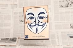 Schampus Magazine #72 »Capital«  Spread (Cut-out Guy Fawkes Mask), by Bergmann Studios, 2012