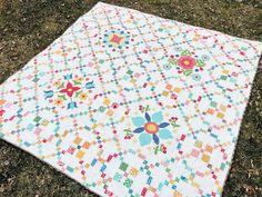Riley Blake Designs Project Tour- Flea Market Cross Stitch Patterns, Quilt Patterns, Colorful Quilts, Contemporary Quilts, Riley Blake, Quilt Tutorials, Quilt Making, Fleas, Quilt Blocks