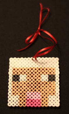 Minecraft Sheep Ornament perler beads by TheMightyBeads
