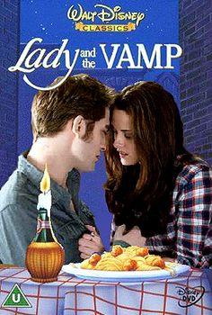 Lady and The Vamp - Twilight/Disney mashup poster