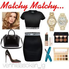 Matchy Matchy by ice-cream1234 on Polyvore featuring Christian Louboutin, Givenchy, Citizen, Vince Camuto, LORAC, Topshop and Anastasia Beverly Hills