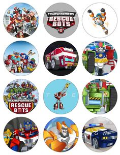 TRANSFORMERS RESCUE BOTS Printable Birthday Party by GELATODESIGN, $5.00