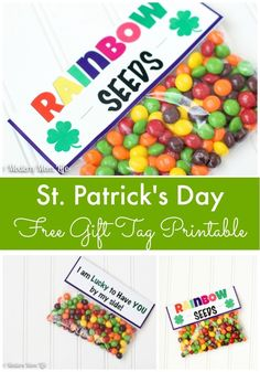 St. Patrick's Day Gift Idea. Free St. Patricks Day Printable.