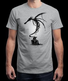 """Ink Dragon"" is today's £9/€11/$12 tee for 24 hours only on www.Qwertee.com Pin this for a chance to win a FREE TEE this weekend. Follow us on pinterest.com/qwertee for a second! Thanks:)"