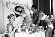 Vogue 1976 - Patti Hansen, Lisa Taylor & Beverly Johnson by Arthur Elgort