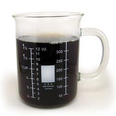 A beaker mug for collegiate chemists.