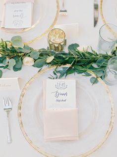 Modern acrylic and gold dinnerware: http://www.stylemepretty.com/south-carolina-weddings/charleston/2016/09/08/charleston-outdoor-intimate-wedding-at-the-river-house/ Photography: Sarah Joelle - http://www.sarahjoellephotography.com/