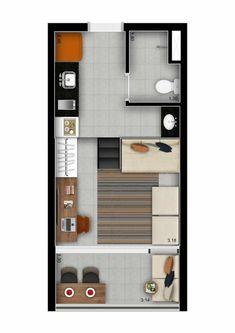 Garden Design Plans, Home Garden Design, Home Interior Design, Small Apartment Layout, Apartment Design, Tiny Apartments, Container Design, Sims House, Facade House