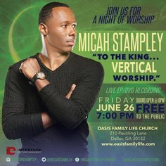 Micah Stampley Gears Up For Live EP & DVD Recording June 26, 2015 in Dallas, GA | @MicahStampley // HEIDI STAMPLEY, INTERFACE ENTERTAINMENT, MICAH STAMPLEY, TARA GRIGGS-MAGEE, VERTICAL WORSHIP