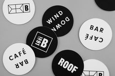 Visual identity and coasters designed by Blok for Toronto's The Broadview Hotel
