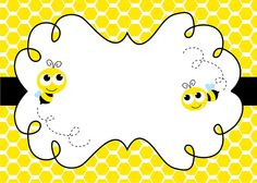 Bee Invitations, Diy Birthday Invitations, Bumble Bee Birthday, Bee Cards, Spelling Bee, Classroom Themes, Kindergarten, Creations, Illustration
