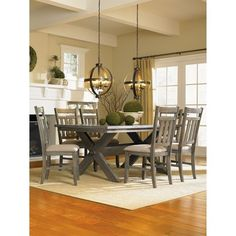 Ecom Dining Table Set Powell Company 5 Number Of Pieces In Set