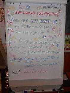 Bine ati venit pe blogul clasei pregatitoare B, STEP BY STEP: Mesajul zilei Class Decoration, Blog Page, Kindergarten Activities, Anchor Charts, Worksheets, Diy And Crafts, Alphabet, Homeschool, Parenting