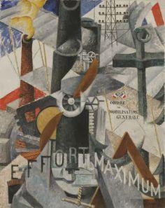 "Gino Severini (1883-1966), 1914, Visual Synthesis of the Idea: ""War""."