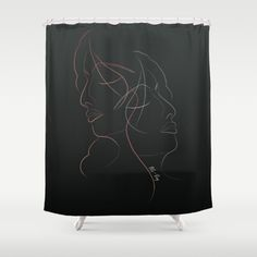 Authîel Rainbow Minimalist Shower Curtain by weivy Minimalist Showers, Minimalist Decor, Face Towel, Presents For Friends, Good Cause, Hand Towels, Line Art, Ivy, My Design