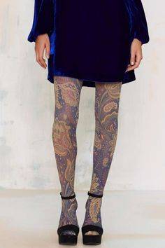 very cool paisley tights //