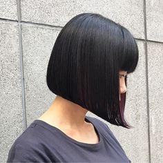 頭の形も輪郭もきれいに見える!大人の前下がりボブヘアスタイル15選♡ | folk Elegant Hairstyles, Short Bob Hairstyles, Bride Hairstyles, Japanese Beauty Hacks, Medium Bob Cuts, Lady Bob, Bob Hair Color, Face P, Kawaii Hairstyles
