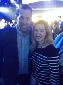 My new BFF Kenneth Cole. (Too bad he wasn't handing out shoes!)