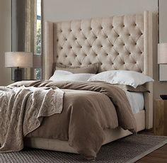 New bedding for the master - Restoration Hardware Stonewash Belgian Linen Bedding Collection in Sable.