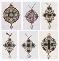 Six ink and wash designs for pendants by Hans Holbein the Younger