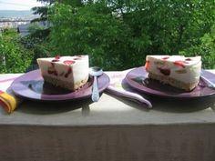 Tort de vara cu mascarpone si iaurt, Rețetă Petitchef Sweet Desserts, Cheesecake, Deserts, Pudding, Vegetarian, Sweets, Cooking, Food, Mascarpone