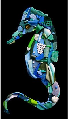 marine rubbish art