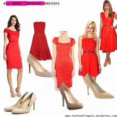 what to wear with a nude colored dress | ... dress 1 red cocktail dress wear nude shoes keep your accessories