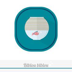 RedFish #red #redfish #fishtank #creative #claudiachieffo #flatdesign #VISION__design #art #logo #logotype #vegan #vsco #illustrator #illustration #graphic #food #inspiration #water