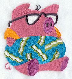 Floating Pig design (E5534) from www.Emblibrary.com