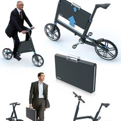 Foldable bike with suit case