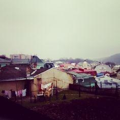 Buchach town in rainy day, Western Ukraine