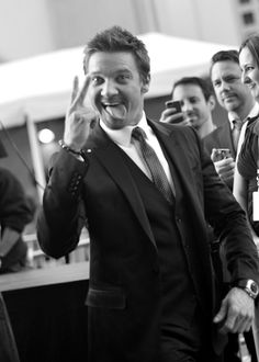 Jeremy Renner. Even better because he's completely nuts and not just hot.
