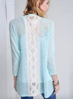 Lace Back Cardigan shopallthingssouth.com