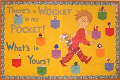 there's a wocket in my pocket coloring page | There's a Wocket in My Pocket bulletin board. Kids color ... | Dr. Se ...