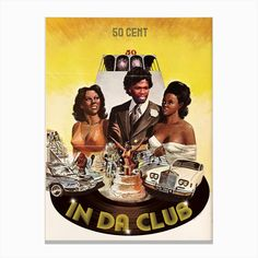 Noir Gallery Ads Libitum 'In Da Club' 50 Cent Retro Music Hip Hop Metal Wall Art Print x Multicolor(Aluminum) Retro Poster, Vintage Posters, Framed Art Prints, Fine Art Prints, Poster Prints, Ad Libitum, Art Encadrée, Transformers, Hip Hop Art