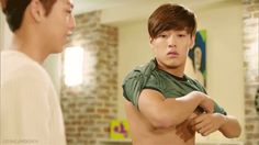 """""""Don't change in front of me!""""  """"Why?"""" - starts taking of his shirt """"I'm not who I am.. I'm gay!"""""""