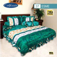 Sprei Set (King 180×200) motif Esme Premium Lembut. Takut tidak sesuai Ukuran (kekecilan/kebesaran) ??? Kami beri garansi 30 Hari. 3d Design, Comforters, Blanket, Bed, Home, Creature Comforts, Quilts, Stream Bed, Rug