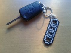 Audi logo made with hama beads by RosiPixels Audi, Forts, Key Chains, Perler Beads, Pixel Art, Personalized Items, Accessories, Cars, Beads