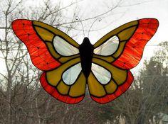 Suncatcher Stained Glass papillon monarque par Handcraftcottage