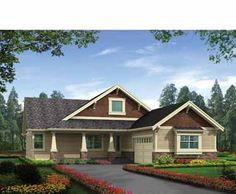 1762 sq. ft. Rustic Craftsman with Dramatic Great Room (HWBDO69582) | Craftsman House Plan from BuilderHousePlans.com