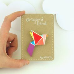 Origami bird brooch by Sketch Inc