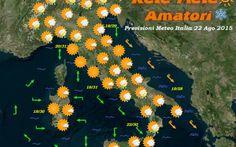 Bollettino Meteo Italia per il giorno 22 Agosto 2015 Previsioni Meteo Italia: Residua instabilita' al mattino sulle regioni del settore ionio in attenuazione dal pomeriggio-sera. Sereno o poco nuvoloso sulle rimanenti regioni salvo locali annuvolamenti #previsioni #meteo #italia