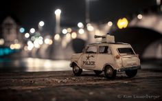 Be Quiet, Police's Here by Kim Leuenberger #miniature #toycar #photography #bokeh #dof