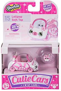 Shopkins Cutie Cars Lollipop Soft Top with Mini Shopkin Exclusive Crafts For Girls, Toys For Girls, Kids Toys, Lego Girls, Lol Dolls, Barbie Dolls, Shopkins Cutie Cars, Shopkins And Shoppies, Accessoires Barbie