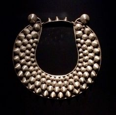 Neck piece, Silver, Guizhou, China, early - mid 1900's. Miao / Hmong people