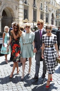 Beatrice Borromeo and Pierre Casiraghi attend the wedding of Joseph Getty and Sabine Ghanem in Rome on May 30, 2015