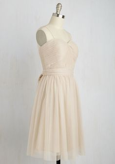 Reception Rendezvous Dress. When your friends finally see you up close in this strapless dress, they'll agree that the bride isnt the only one glowing! #blush #modcloth