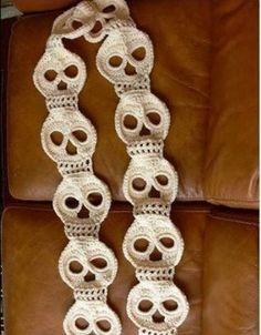 DIY Pattern To Crochet Yourself A Skull Scarf  #Fashion #Trusper #Tip