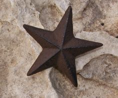 Cast Iron Star Nail hammers easily into the wall! Available online and in our shop!
